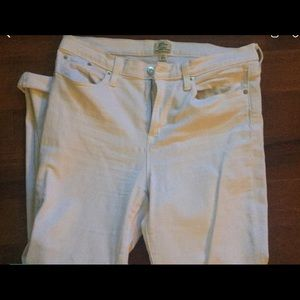 J crew white skinny jeans size 32